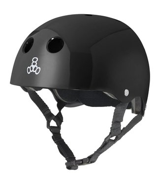 Triple Eight STANDARD HELMET GLOSS BLACK SMALL