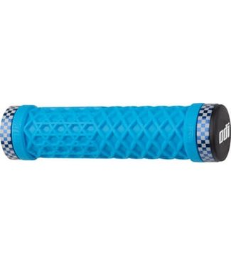 ODI VANS Lock-On Grips Light Blue with Blue Classic Checker Etched Clamps
