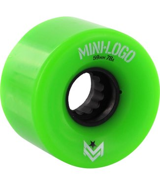MINILOGO SKATE WHEELS 4PACK 59MM GREEN