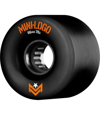 MINILOGO SKATE WHEELS 4-PACK 66mm black