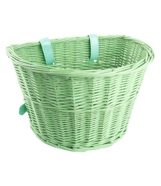Classic Willow Basket Green