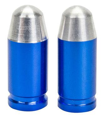 TRICKTOPZ VALVE CAPS  BULLET TIP BLUE