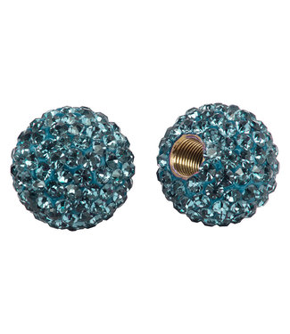 Cruiser Candy VALVE CAPS BLING AQUAMARINE