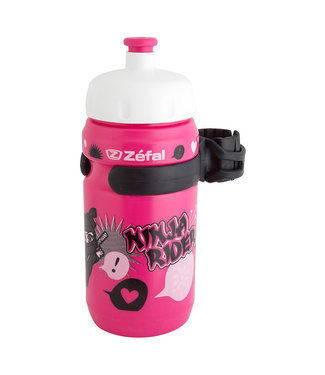 zefal BOTTLE 12Oz w/CAGE LITTLE-Z GIRL NINJA PK