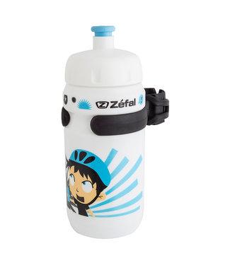 zefal Little Z Water Bottle - White / Blue