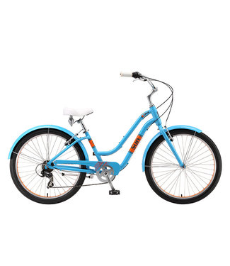 SUN BICYCLES BIKE SUN CRUZ ALLOY 7SPEED BLUE/ORG