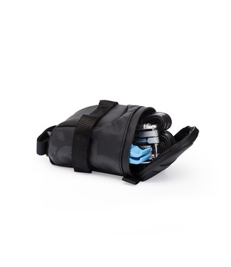 fabric Contain Saddle Bag BLACK Medium