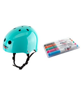Triple Eight WIPEOUT HELMET SKATE/BIKE YOUTH-MD TEAL