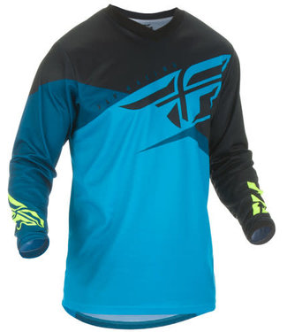 FLY RACING F-16 JERSEY BLUE/BLACK/HI-VIS YX