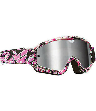 ZONE PRO YOUTH GOGGLE PINK W/ CHROME/SMOKE LENS