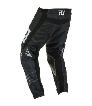 FLY RACING KINETIC MESH NOIZ PANTS BLACK/WHITE SZ 26