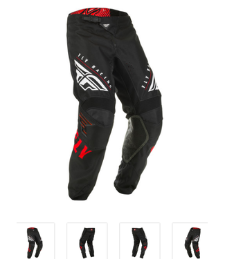 FLY RACING KINETIC K220 PANTS RED/BLACK/WHITE SZ 30