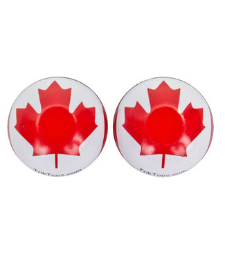 TRICKTOPZ VALVE CAPS TRICKTOPZ FLAG CANADA 1pr/PK