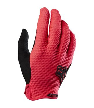 Fox Racing ATTACK GLOVES - NEON RED - LARGE