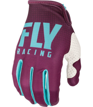 FLY RACING LITE GLOVES SEAFOAM/PORT/WHITE SZ 04