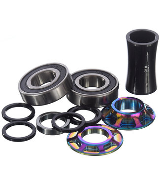 TOTAL BMX Mid Bottom Bracket Kit 22mm - Rainbow