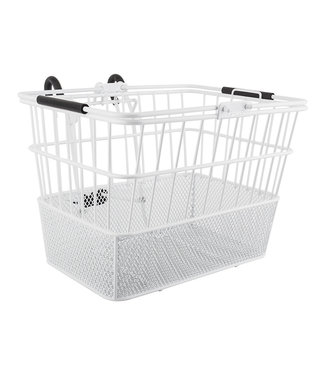 BASKET FRONT WIRE/MESH L/O STD WH w/BRACKET