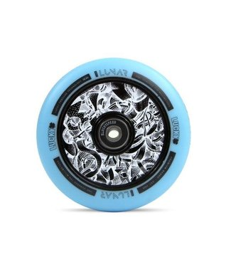 LUCKY LUNAR™ 110MM PRO SCOOTER WHEEL AXIS BLACK/TEAL (PAIR)