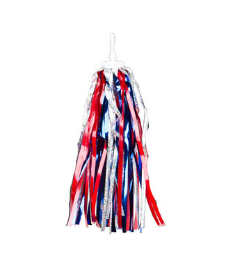 STREAMERS LASER RED SILVER BLUE