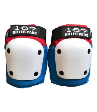 187 KILLER PADS Fly Knee Pads - Red/White/Blue