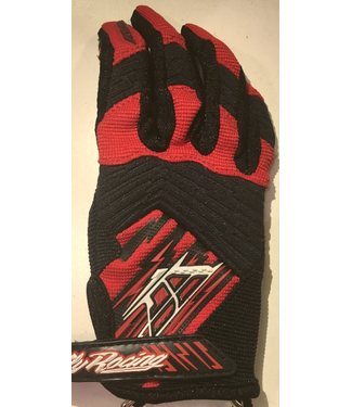 FLY RACING F-16 GLOVES RED/BLK SZ 1