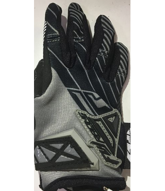 FLY RACING KINETIC GLOVES BLK/GRY SZ 1