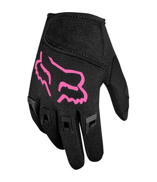 Fox Racing DIRTPAW YOUTH GLOVES BLACK/PINK - SMALL