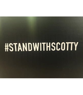 #STANDWITHSCOTTY STICKER - DIECUT (SCOTTY CRANMER)