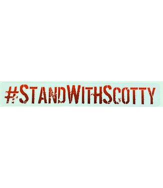 #STANDWITHSCOTTY STICKER - RED (SCOTTY CRANMER)