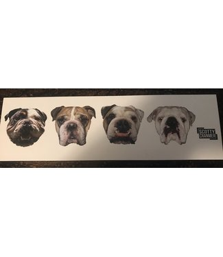 CRANMER BULLDOG HEAD STICKER