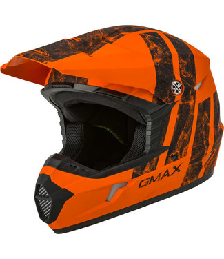GMAX MX-46Y OFF-ROAD DOMINANT FULL-FACE HELMET MATTE ORANGE/BLACK YS