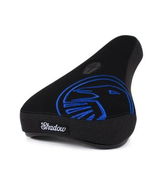 The Shadow Conspiracy Crow Pivotal Mid Seat: Black with Perma Blue Embroidery