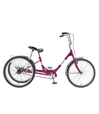 "SUN BICYCLES ADULT 24"" TRIKE PURPLE"