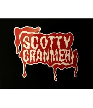 SCOTTY CRANMER BLOOD LOGO STICKER