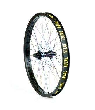 "TOTAL BMX Techfire Blk/Rainbow Front Wheel 20"""
