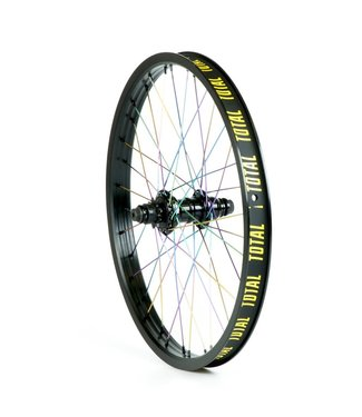 TOTAL BMX Techfire Blk/Rainbow Rear Wheel 20""