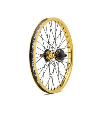 Cinema ZX Cassette Wheel w/Hub Guards Gold RHD