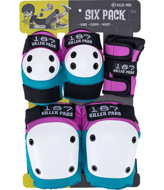 187 KILLER PADS 6-PACK PAD SET JUNIOR PINK/TEAL
