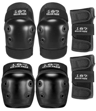 187 KILLER PADS 6-PACK PAD SET JUNIOR BLACK