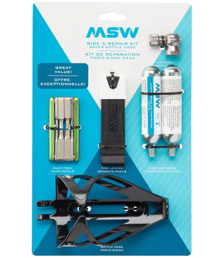 MSW Ride and Repair Kit with Water Bottle Cage