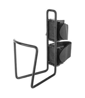 TWO FISH BOTTLE CAGE TWO FISH QR f/40oz 3.5inDIA VINYL BLACK