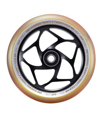 120MM GAP CORE WHEEL - BLACK/GOLD