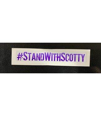 #STANDWITHSCOTTY STICKER - PURPLE  (SCOTTY CRANMER)