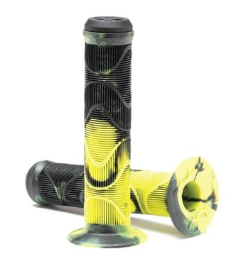 DUO HOMAN GRIP BLACK/YELLOW  FLANGED