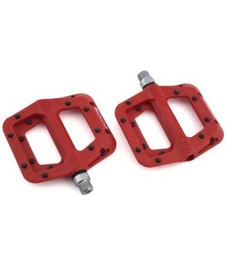 RACE FACE Chester, Platform Pedals, Body: Nylon, Spindle: Cr-Mo, 9/16'', Red, Pair