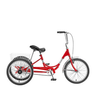 SUN BICYCLES TRIKE ADULT  20 RED WITH WHITE BASKET