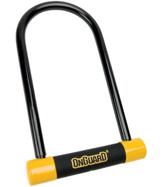 "ONGUARD Series U-Lock - 4.5 x 9"", Keyed, Black/Yellow, Includes bracket"