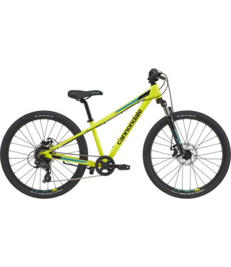 """CANNONDALE 24"""" Girls Kids Trail Nuclear Yellow"""
