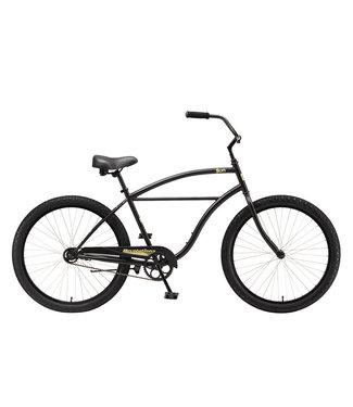 "SUN BICYCLES CRUISER REVOLUTION 26"" SATIN BLACK"