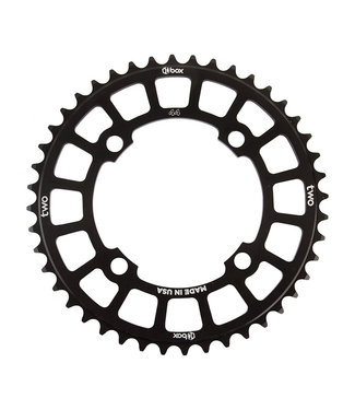 BOX COMPONENTS TWO 4-BOLT 44T CHAINRING BLACK